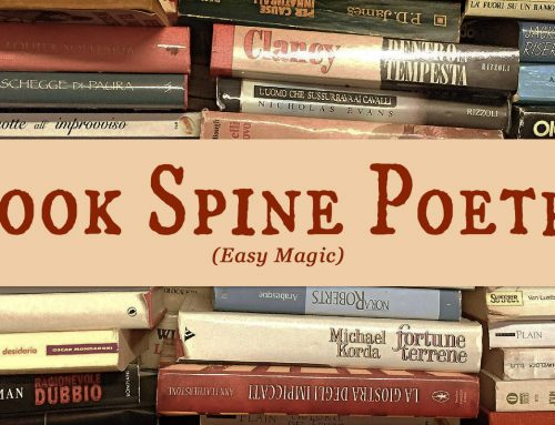 Book Spine Poetry—Easy Magic