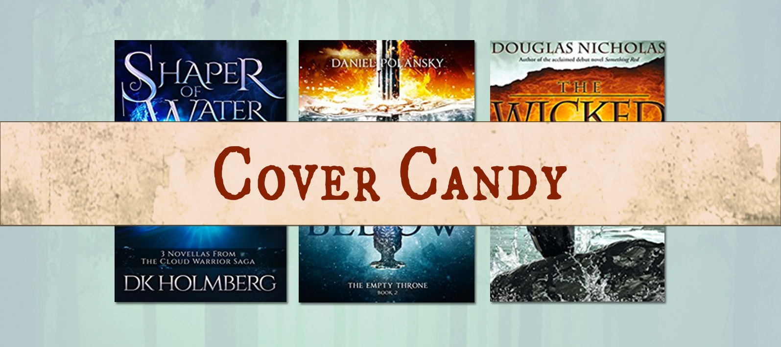 Cover Candy #11 (All Wet) brings us books with water on the cover. We've done fire, so it's only fair, right? There's nothing wishy-washy about these beauties, though! www.robinlythgoe.com